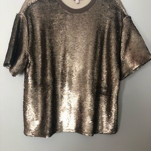 Cinq a Sept Sequin Top Sz M $398